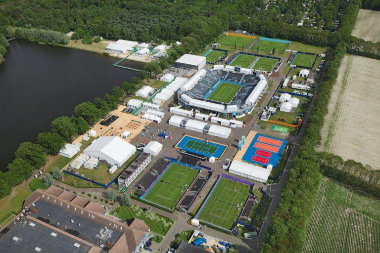 Tennisbanen Autotron Rosmalen alweer klaar voor Ricoh Open 2017